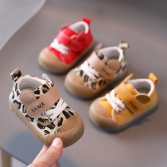 Baby Soft-Soled Leopard Print Trendy Toddler Shoes