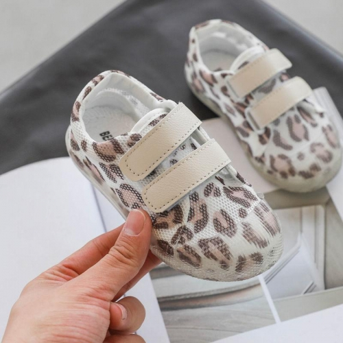 Baby Soft-Soled Mesh Leopard Toddler Shoes
