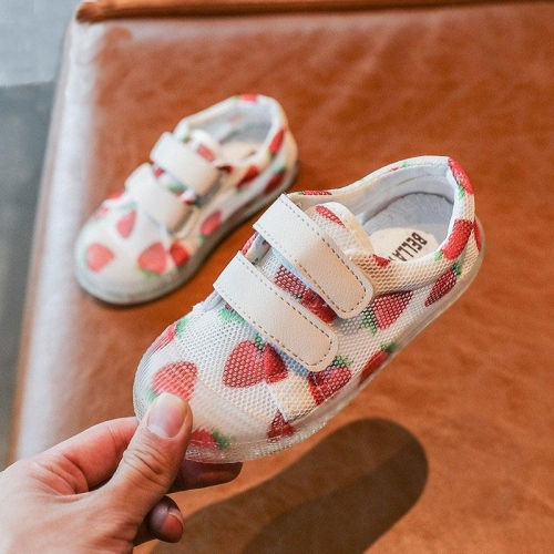 Baby Soft-Soled Mesh Strawberry Toddler Shoes